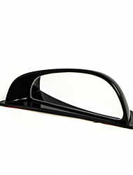 Automobile Black Plastic Shell Wide Angle Left Rear View Blind Spot Mirror