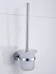 Contemporary Stainless Steel Chrome Wall Mounted Toilet Brush Holder