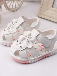 Baby Shoes Dress / Casual Leather Fashion Sneakers Pink / Red / White