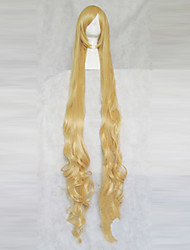 Cosplay Wigs GOSICK Victorique De Blois Yellow Extra Long / Curly Anime Cosplay Wigs 150 CM Heat Resistant Fiber Female