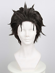 Cosplay Wigs Cosplay Cosplay Gray Short Anime Cosplay Wigs 35 CM Heat Resistant Fiber Male