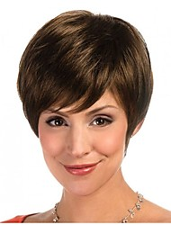 Straight Hair 100% Human Hair Wig Capless Hair Wig For Women