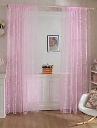 W100cm*L200cm,One Panel Rod pocket Multicolour Polyester Curtains