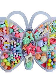 brinquedos educativos dos novos artesanais DIY criativas presentes das crianças as contas de caixa de borboleta