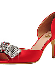 Women's Wedding Shoes Peep Toe / D'Orsay & Two-Piece / Open Toe Sandals Wedding / Party Red / Champagne