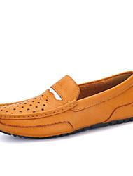 Zapatos de Hombre Mocasines Casual Cuero Azul / Amarillo