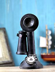 ornamentos de casa do vintage 1940 modelo preto ocidental telefone de mesa telefone rotativo