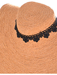 Женский Ожерелья-бархатки Ожерелья-обручи Готический ювелирные изделия Татуировка Choker Кружево Ткань Тату-дизайн Бижутерия Назначение
