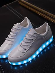 Da donna Da uomoTempo libero Sportivo Casual-Light Up Shoes-Piatto-Finta pelle-Bianco