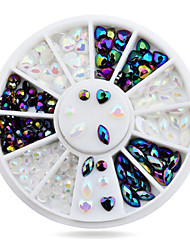 1wheel Heart Design Rhinestone 3d Nail Art Decorations