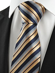 New Striped Golden Black JACQUARD Business Men's Tie Necktie Holiday Gift #1001