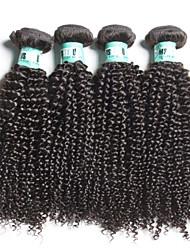 """4 unidades / lote 8 """"-28"""" cabelo humano cabelo virgem encaracolado Kinky 100% brasileira brasileiro tece"""