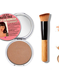 1pcs Make-up die b @ lm mary-lou Manizer Bronzer& Highlighter Kosmetik + 1 Stück hochwertige Puderpinsel