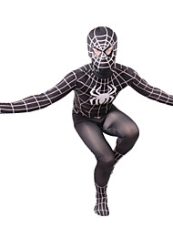 Spider-Man Male Black Lycra Cosplay Costumes