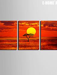 Paysage Toile Trois Panneaux Prêt à accrocher,Format Horizontal