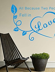 AYA™ DIY Wall Stickers Wall Decals, Love English Words & Quotes PVC Wall Stickers