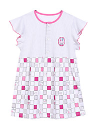 Girl's Pink Dress,Cartoon Cotton Summer