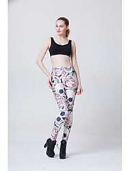 Women Print Legging,Spandex Medium