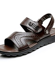 Men's Shoes Amir 2016 New Style Hot Sale Outdoor / Casual Comfort Leather Beach Sandals Brown / Black