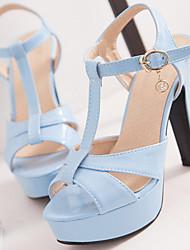 Women's Shoes Patent Leather/Stiletto Heels/Platform/Sling back/Open Toe Sandals Party & Evening/Dress Black /