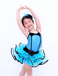 Kids' Dancewear Dresses Children's Performance Polyester / Organza / Lycra Crystals/Rhinestones / Tiers As PictureBallet / Modern Dance /