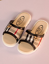 Boys' Shoes Casual Faux Leather Slippers Black / Beige
