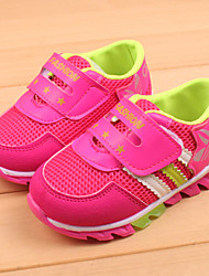 Boy's / Girl's Sneakers Summer Round Toe Tulle Outdoor / Casual Flat Heel Magic Tape Blue / Pink