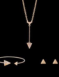 Niedlich / Party-Damen-Halskette / Ohrring / Armband(Rose Gold überzogen / Legierung / Strass)