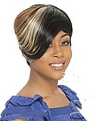 Mujer Pelucas sintéticas Sin Tapa Corto Liso Color Mezclado Peluca de cosplay negro peluca Peluca de Halloween Peluca de carnaval Las