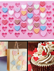 Cute 55 Cell Heart Style Silicone Chocolate Ice Candy Lolly Muffin Mold Rectangle Cube DIY Ice Cube