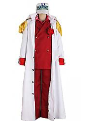 uma peça foxy ref almirante Akainu traje cosplay uniforme marinha