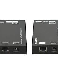 nouvelle extender 60meter hdmi sur cat5e / 6 seul câble avec commande ir 3d support 1080p