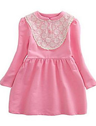 Girl's Orange / Pink Dress,Lace Cotton Winter
