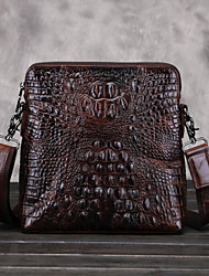 Men Cowhide Shopper Shoulder Bag / Tote / Mobile Phone Bag - Brown