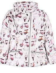 Girl's White Jacket & Coat,Cartoon Cotton Winter