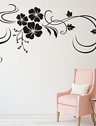 Романтика / Мода / Цветы Наклейки Простые наклейки,PVC S:34*72cm/ M:52*109cm / L:68*142cm