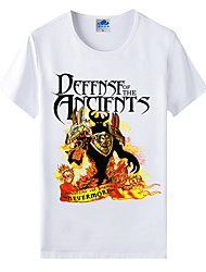Flaming Light Cotton Lycra Men's T-shirt/World of Warcraft Wow Series Heroes T-Shirt/Dark 1Pc