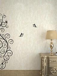 Romantik / Mode / Blumen Wand-Sticker Flugzeug-Wand Sticker,PVC M:30*100cm / L:42*142cm