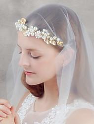 cristal perle fleur d'or strass bandeau front bijoux de cheveux de femmes pour la fête de mariage