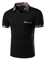 Men's Short Sleeve Polo,Cotton Casual / Sport Pure
