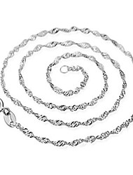 Casual Silver Plated Chain