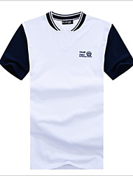2016 new summer short sleeved T-shirt slim men cotton T-shirt collar stamp man men's fashion