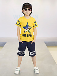 2016 Fashion Summer Boys Clothes Sets Kids Clothes Short-Sleeve Cotton T-Shirt + Pant Boys Clothing Set