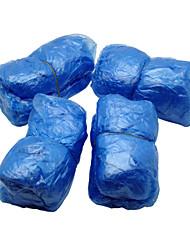 descartáveis capas de calçados de plástico (40) azul