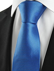KissTies Men's Squared Bright Royal Blue Microfiber Tie Necktie For Wedding Party Holiday With Gift Box