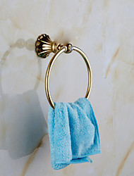 Bathroom Accessories Gold-Plated Solid Brass Material Towel Rings