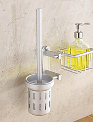 Contemporary Space Aluminum Anodizing Wall Mounted Toilet Brush Holder