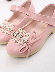 Girl's Summer Round Toe / Gladiator Leatherette Outdoor / Casual Flat Heel Crystal / Applique / Rivet / Magic Tape Pink / Red / Khaki
