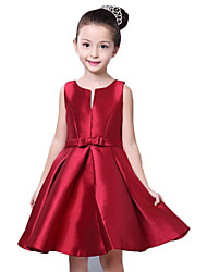 Girl's Red Dress,Floral Cotton All Seasons