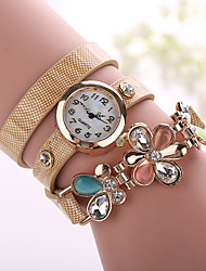 Xu™ Ladies' Fashion The Flower Diamonds Bracelet Quartz Watch